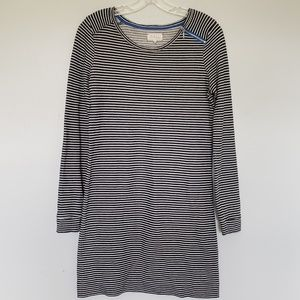Lou & Grey striped dress zip detail